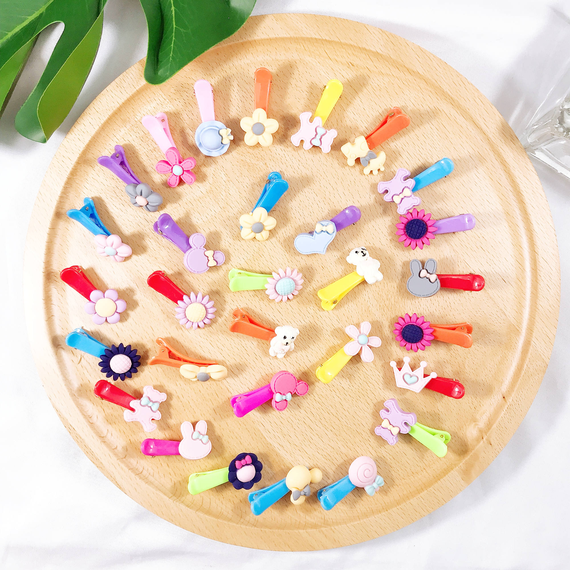 20PCS  Mix Cartoon Bow Knot Rabbit Hair Accessories Set Hair Clip For Girl BB Clip Mini Headbands Children Girl Accessories