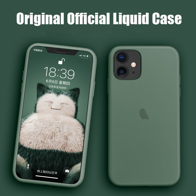Original Official Silicone Case For iPhone 11 Logo Cover For Apple iPhone XR X XS Max 6 6s 7 8 Plus 11 Pro Max 2019 Cover