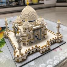 Nano Toy World Famous India Taj Mahal Palace Diamond Mini Compatible Legoines Architecture Building Blocks for Children Gift