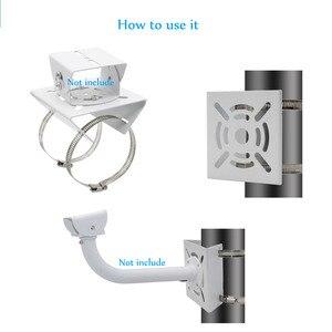 Image 3 - OwlCat Outside CCTV Camera Iron Hoop Bracket Video Surveillance Camera Pole Mounting Hold Column Bracket Holder Stent Metal