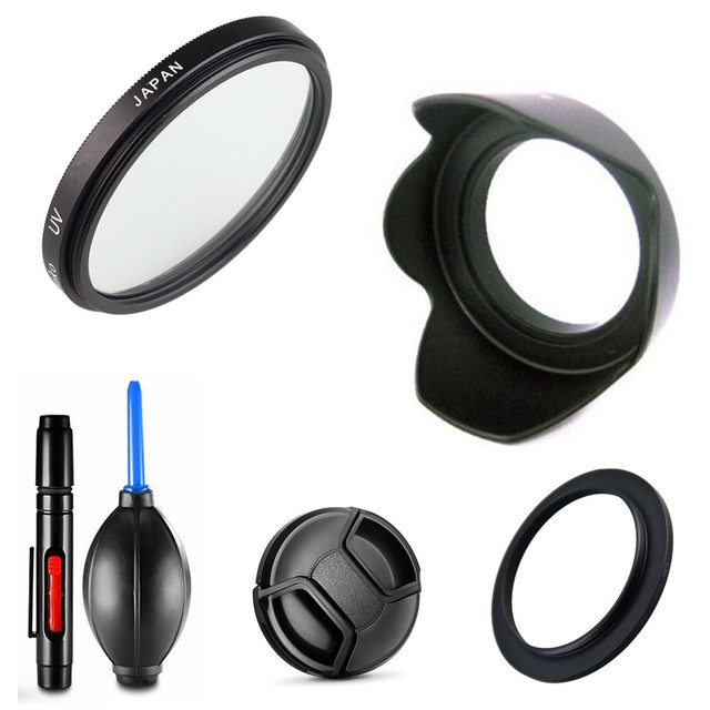 Uv 필터 및 렌즈 후드 캡 청소 펜 공기 송풍기 어댑터 링 니콘 coolpix b700 b600 p610 p600 p530 p520 p510 카메라