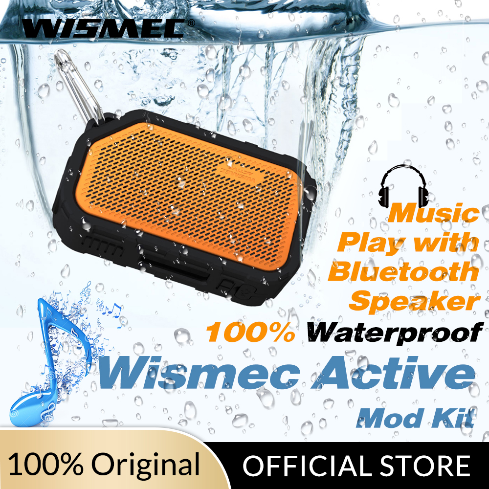 Original Wismec Active Mod Box 80W Vape Mod With Bluetooth Speaker Waterproof/shockproof Electronic Cigarette Vape Mod