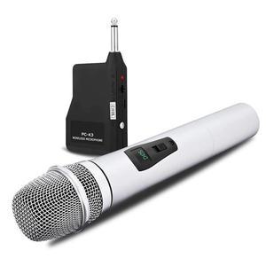 Image 5 - VHF ميكروفون لاسلكي محمول باليد ، سبائك الألومنيوم ، للكاريوكي ، الكمبيوتر ، الغناء ، KTV مع جهاز الاستقبال