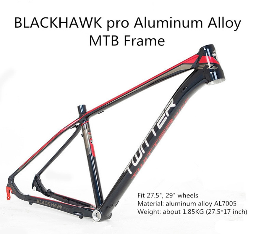 MTB Mountain Bike Aluminum Alloy Frame Black Hawk Pro XC Off-road UV Decal 27.5/29*15.5inch 17inch Bicycle Frame Cross-country