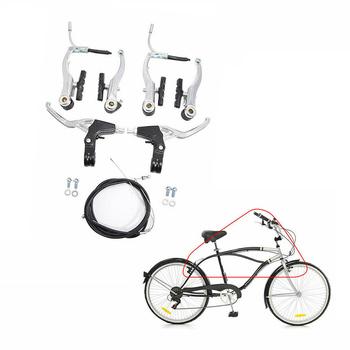 Kabel (przód + tył) zestaw hamulca rower górski pełny hamulec ze stopu aluminium V kompletny rower ze stopu górskiego rower górski V dźwignia hamulca tanie i dobre opinie CN (pochodzenie) V hamulca (cierne hamulca koła) Other