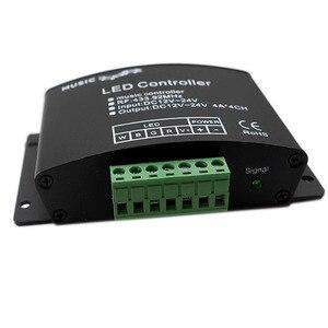 Image 3 - 24 คีย์ RGB/RGBW เพลง LED Controller DC12V 24V RF ระยะไกล SENSOR เสียงเสียงสำหรับ RGB RGBW LED strip LIGHT