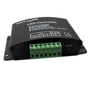 Image 3 - 24Keys RGB/RGBW müzik LED denetleyici DC12V 24V RF uzaktan ses sensörü ses ses kontrolü için RGB RGBW LED şerit ışık