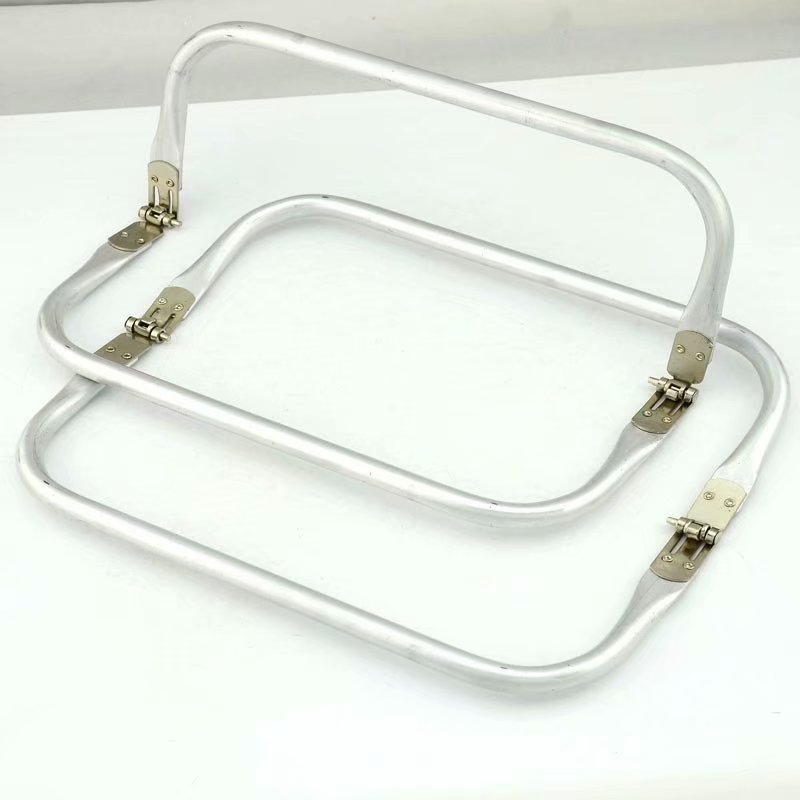 Tubular Spring Loaded Aluminum Rectangular Purse Handles Fashion Bag Handle Part Accessories