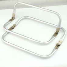 Tubular Spring Loaded Aluminum Rectangular Purse Handles Fashion Bag Handle Part Accessories