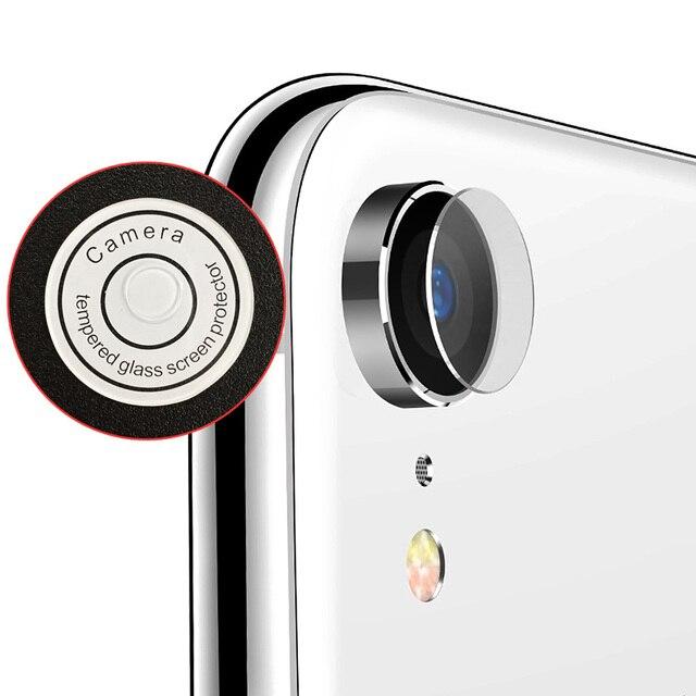 Convient pour iPhone XR arrière caméra lentille verre trempé Protection décran HD 1pc 0.2mm.