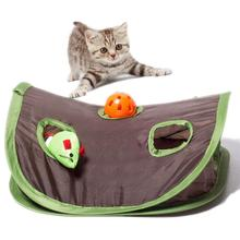 Educational 9 Holes Tunnel Cats Toys Interactive Hide Seek Game Mouse Hunt Intelligence Toy Pet Hidden Hole Foldable For Cat