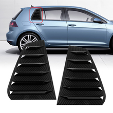Shade-Cover Golf Mk7 MK7.5 Moulding Carbon-Fiber-Style Rear VW Side-Window-Louver-Vent