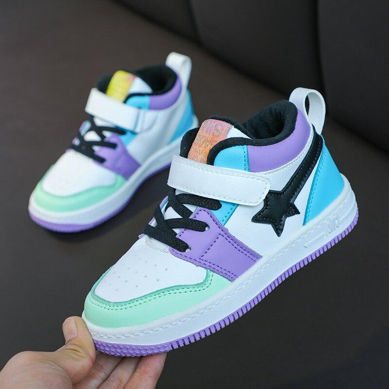 Кроссовки детские высокие модная повседневная спортивная обувь