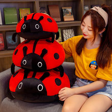 Huggable kawaii 80/60/40cm bonito brinquedo de pelúcia macio colorido joaninha joaninha inseto boneca travesseiro almofada crianças presente aniversário