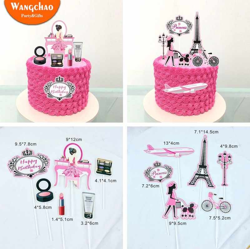 Tremendous Romantic Paris Travel Dream Theme 21St Happy Birthday Cake Topper Funny Birthday Cards Online Alyptdamsfinfo