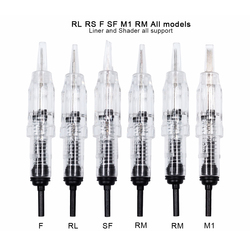 Biomaser 10PCS Revolution Tattoo Needle Permanent Makeup Cartridge Needles For Eyebrow Lips 1R,2R,3R,5R Rotary Machine Cartridge