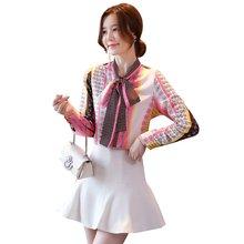 Женская Офисная рубашка с длинным рукавом Элегантная модная