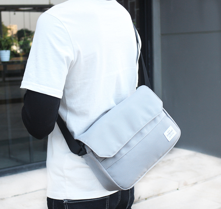 Lightweight Young School Bag Premium Canvas Messenger Bag Trendy Street Shoulder Casual Bag for Teenager Men Mochila in Crossbody Bags from Luggage Bags
