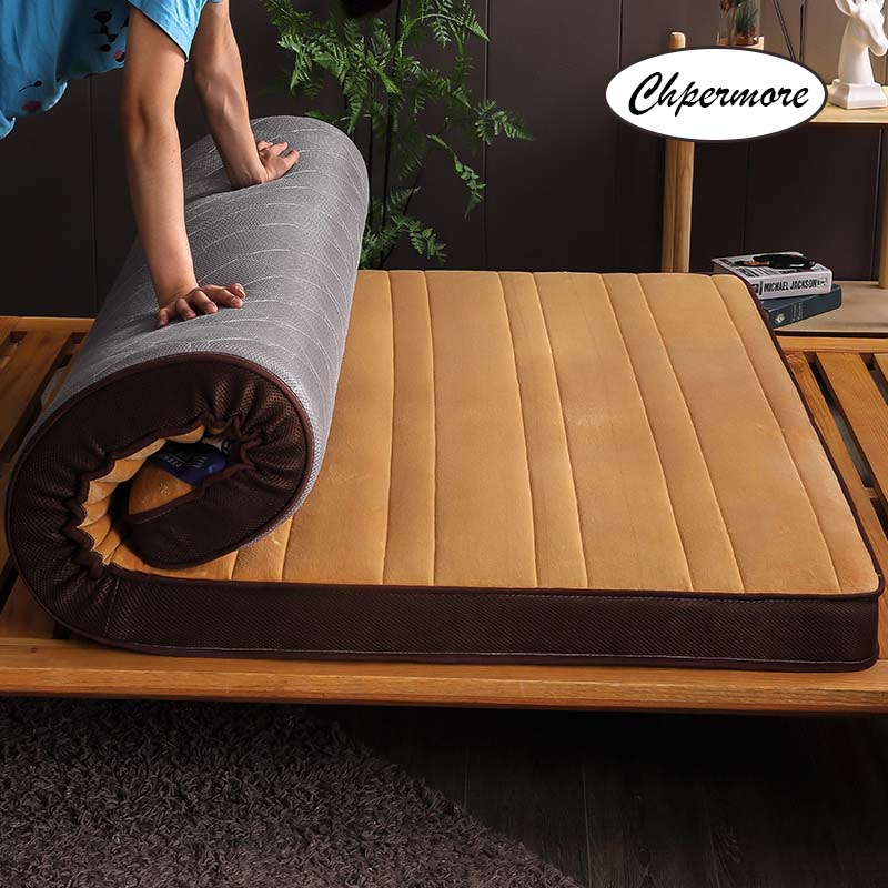 Chpermore Thick Flannel Mattress Tatami Stereoscopic Comfortable Mattresses Bedspreads King Queen Twin Full Size