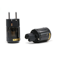 Высококачественная штепсельная вилка с родиевым покрытием, с питанием от переменного тока, Hi Fi аудио, штепсельная вилка от Schuko, разъем IEC, с питанием от европейского переменного тока, с высоким качеством, для использования в качестве аудиосистемы