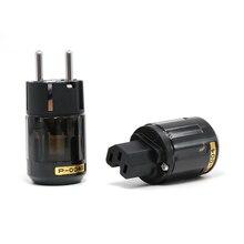Hight Qualität P 004E Rhodium überzogene EUR AC Power stecker hifi audio Schuko stecker C 004 IEC Stecker
