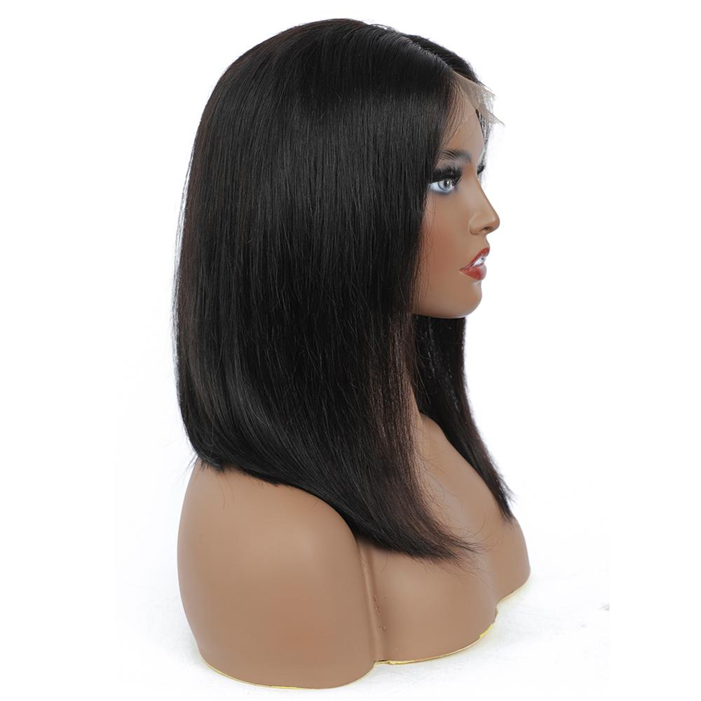 12 Inches 13x4 Lace Frontal Bob Wigs  Straight  Wig Natural Color Closure lace Part Wigs  4