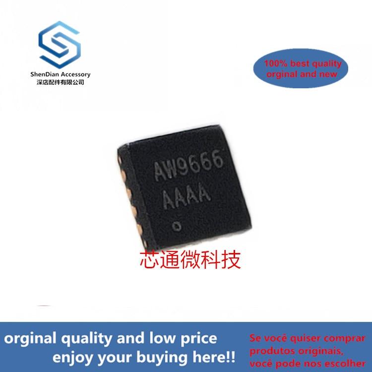 10pcs 100% Orginal New Best Qualtiy AW9666QNR AW9666 QFN 6-Channels 1-Wire Brightness Adaptive Four Mode Char( Can Work Perfect)