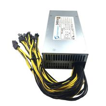 2400W Pertambangan Power Supply 80 Gold Plus PSU 220V untuk Antminer S9 S9i A3 T9 A4 A6 A7 d3 E9 L3 + R4 & GPU Penambang Pertambangan PSU 12 V ASIC(China)