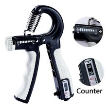 R-Shape Adjustable Countable Hand Grip Strength Exercise Gripper with Counter Du