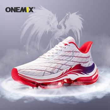 ONEMIX letnie buty do biegania męskie poduszki powietrzne sportowe buty do biegania sportowe buty do biegania damskie buty do chodzenia na świeżym powietrzu tanie i dobre opinie Unisex CN (pochodzenie) Amortyzacja Na betonową podłogę Profesjonalne Dla osób dorosłych oddychająca Zwiększające wysokość