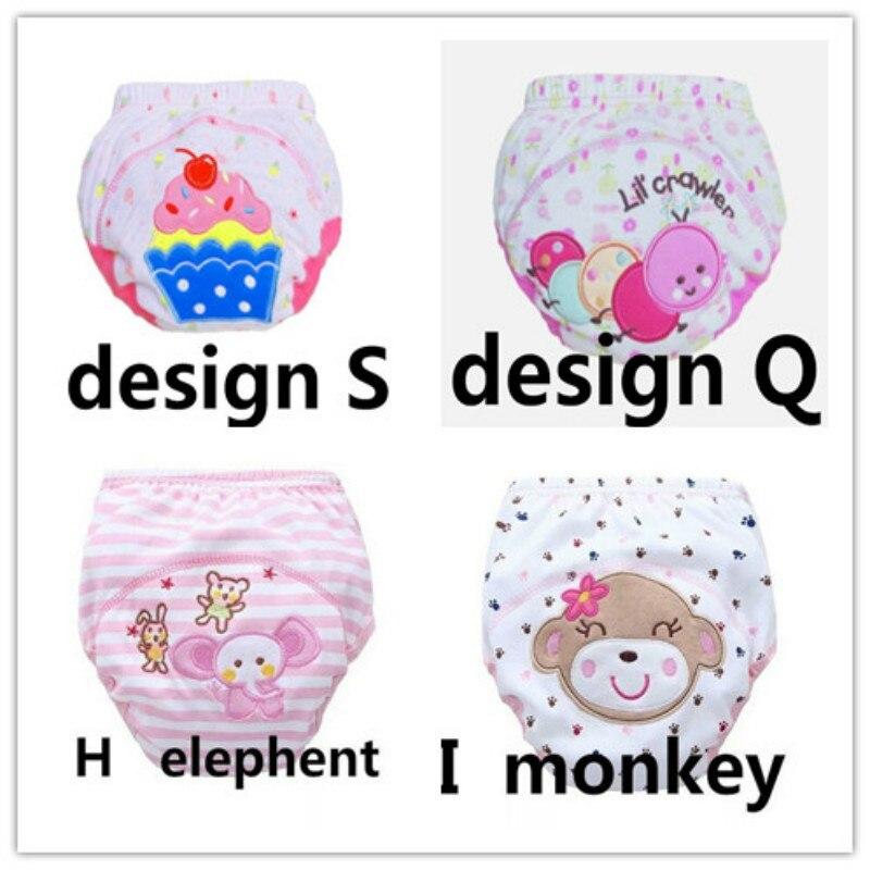 4 pcs dipers mistura cor calcas de treinamento do bebe fralda reutilizavel fraldas lavavel algodao aprendizagem