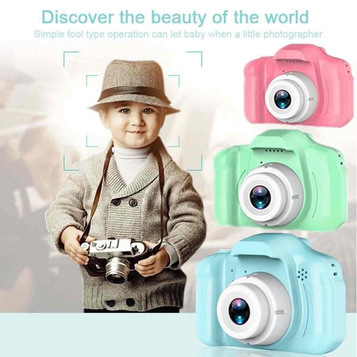 13 millones de píxeles HD pantalla cargable Digital Mini cámara niños dibujos animados cámara de vídeo de fotografía para regalo de cumpleaños infantil