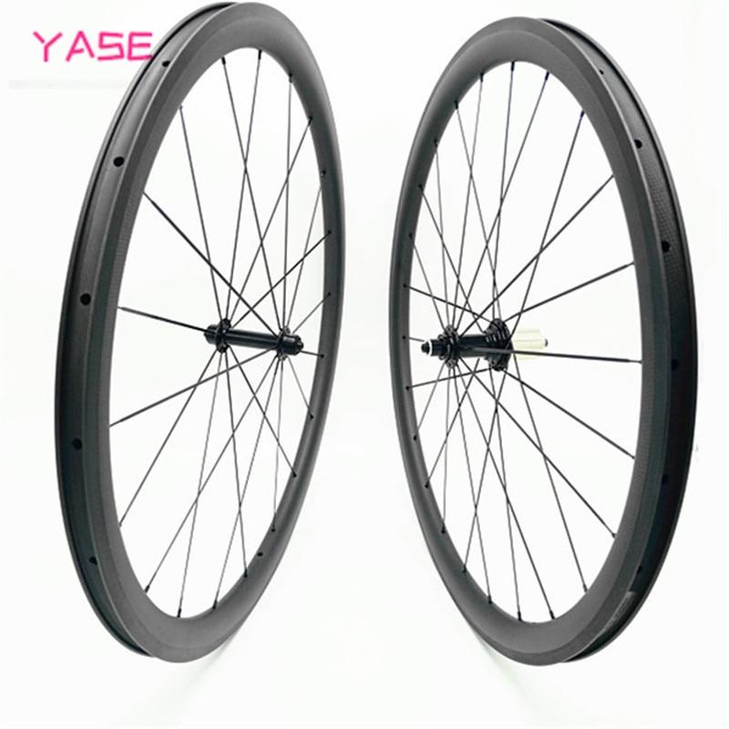 wheel set R39 38x25mm Carbon Road Bike Wheel Straight Pull Tubeless 700c Wheelset road bike wheels roue carbone pour velo route(China)
