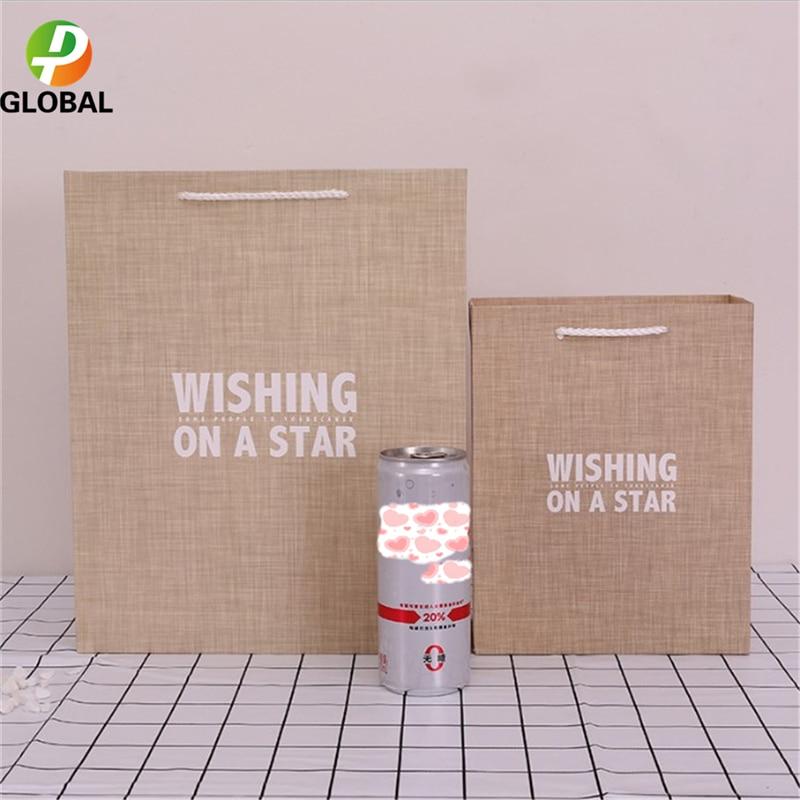D&P 50pcs Wedding Gift Bag Paper Bag Hand Gift Bag Birthday Party Paper Bag Tote Can Be Customiz 18*23*10cm /26*32*12 cm