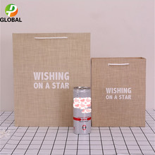 D&P 50pcs Wedding Gift Bag Paper Bag Hand Gift Bag Birthday Party Paper Bag Tote Can Be Customiz 18*23*10cm /26*32*12 cm(China)