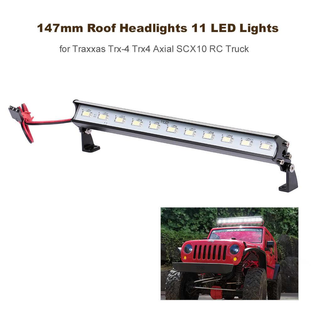 147 ミリメートルの屋根ヘッドライト 11 Led ライト Rc オフロードトラクサス用 Trx4 軸 SCX10 RC トラック RC 車の部品