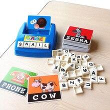 Игрушки для детей английская орфография Алфавит буквы игровые карты английская головоломка со словами забавная развивающая игрушка для детей