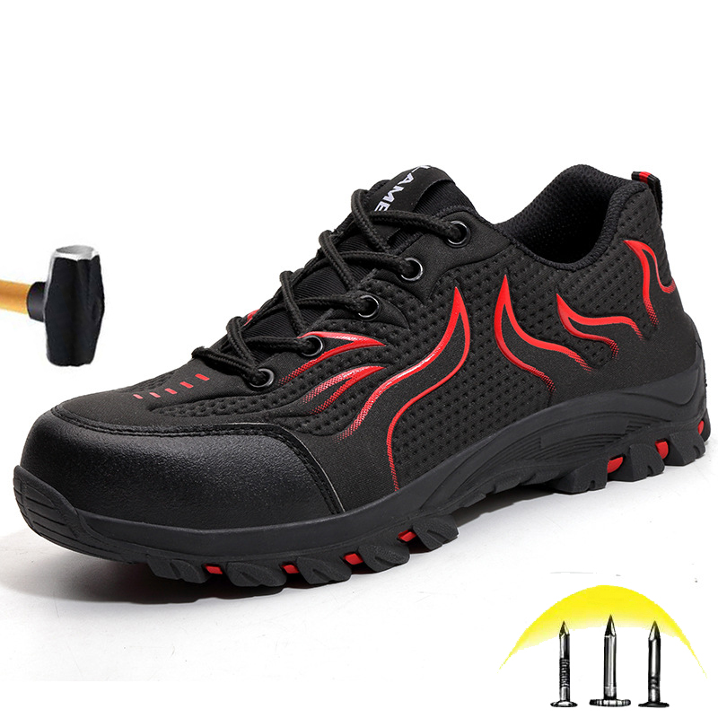 Promo New Waterproof Breathable Safety Shoes 2020 Men's Anti-smashing Steel Head Lightweight Work Shoes Wear-resistant Non-Slip Boots