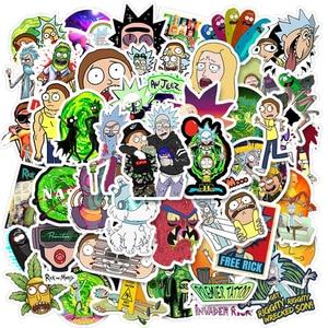50pcs Cartoon Anime rick Stickers Waterproof Skateboard Travel Suitcase Phone Laptop Luggage Stickers Cute Kids Girl Toys
