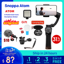 Snoppa atom 3 Axis Handheld Gimbal Foldable Pocket Sized Stabilizer for iPhone X huawei p30 Gopro hero 7 PK smooth 4