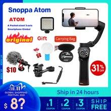 Snoppa atom 3軸ハンドヘルドジンバル折りたたみポケットサイズのiphone × 華為p30用移動プロヒーロー7 pkスムーズ4