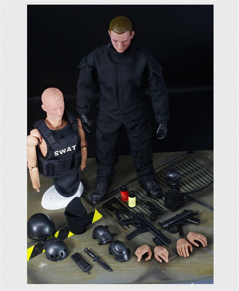 1/6 SWAT Action Figure Model Military Army Combat Game Toys  NB06A