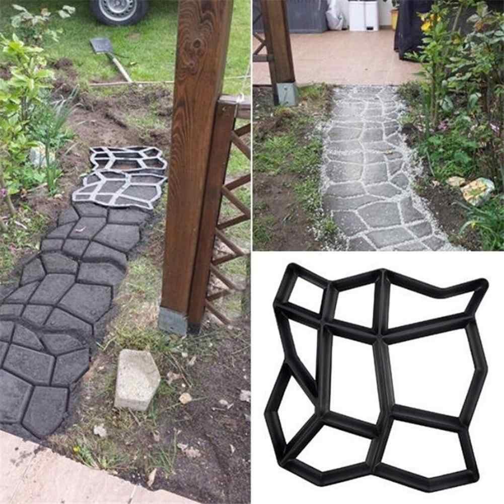 9 רשת גן מדרכה עובש גן ללכת מדרכה בטון באופן ידני עובש