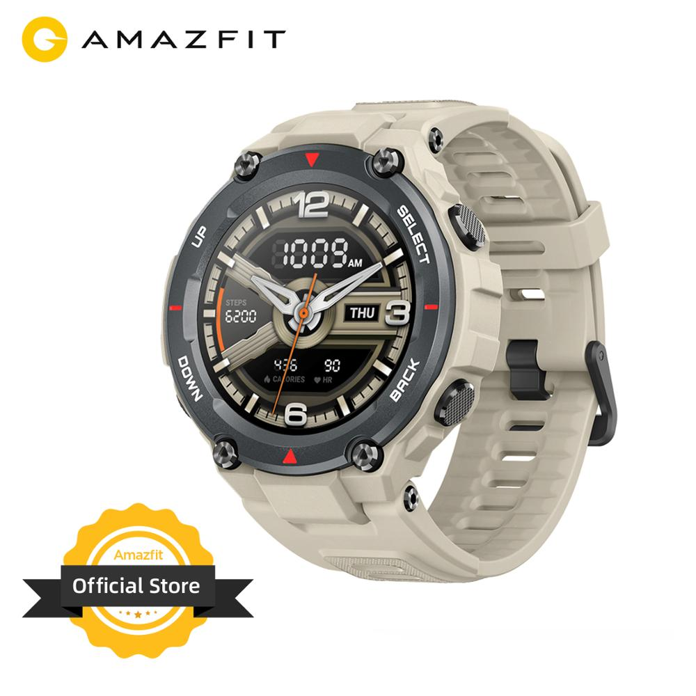 New 2020 CES Amazfit T-rex T Rex Smartwatch AMOLED Display Smart Watch GPS/GLONASS 20 Days Battery For IOS Android