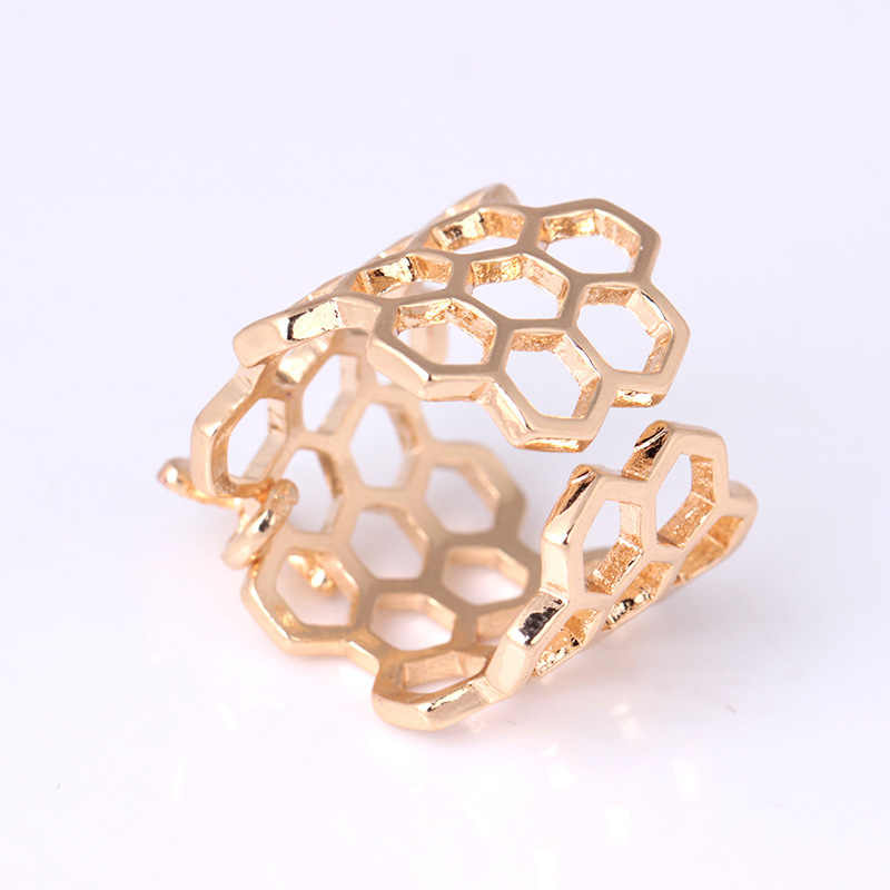 2019 แฟชั่นแหวนเงินสำหรับผู้หญิงเครื่องประดับหมั้นแหวนเปิด Bee แหวนทองหญิงอุปกรณ์เสริมของขวัญ
