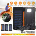 20000/30000 10000mah ソーラーパワーバンク防水ソーラー充電器デュアル USB 外部充電器 Powerbank Xiaomi huawei 社 iphone
