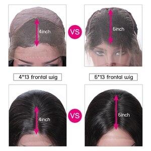 Image 5 - Unice cabelo 13x 4/6 reta frente do laço perucas de cabelo humano com o cabelo do bebê peruca frontal do laço suíço pré arrancado peruano remy peruca de cabelo