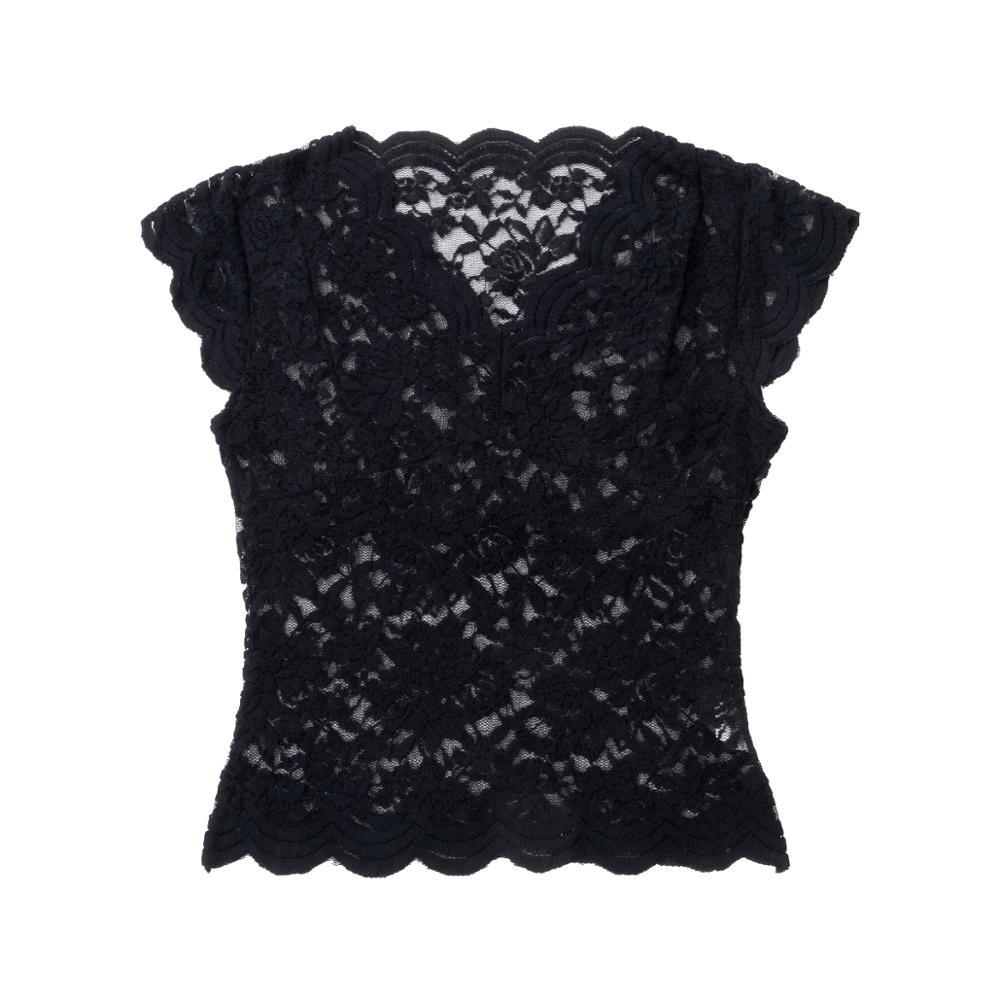 Hirigin Lace Blouses Shirts Sexy Club Female Acrylic Shirts Deep V Summer Fashon Tops Lace Sexy V Neck Sleeveless Fashon Top 3