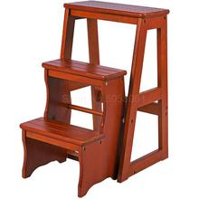 Ladder-Stool Folding Indoor Household Wood Multi-Function Imported