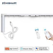 Zemimart nouvelle conception WiFi rideau moteur Tuya vie intelligente personnalisé rideaux électriques piste avec télécommande RF Alexa écho contrôle